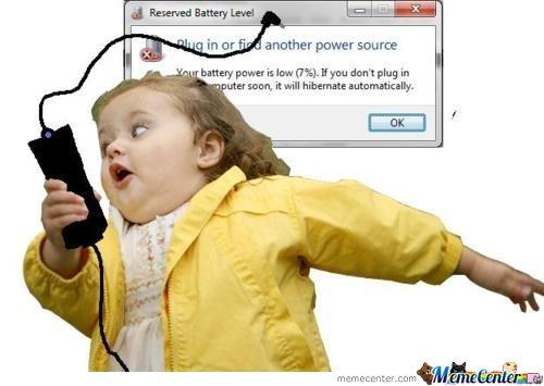 Bateria się rozładowuje...