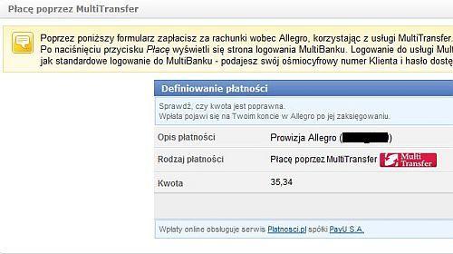 Opłaty Allegro
