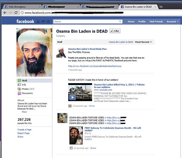 Fałszywa strona na Facebooku