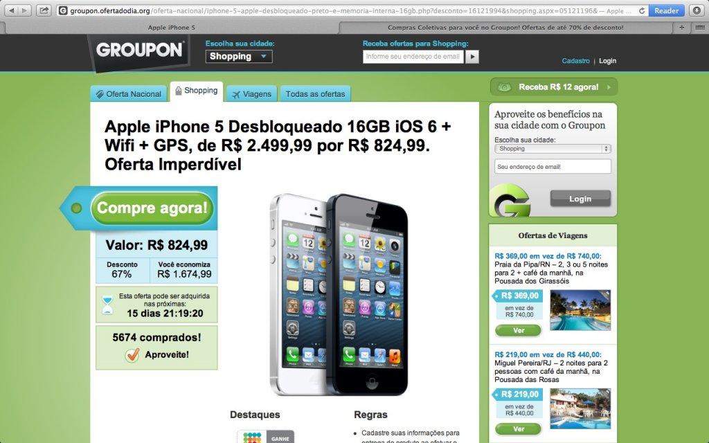 Przechwycona pułapka phishingowa mamiła internautów ofertą zakupu nowego iPhone'a za 825 brazylijskich reali, czyli nieco ponad 1200 zł