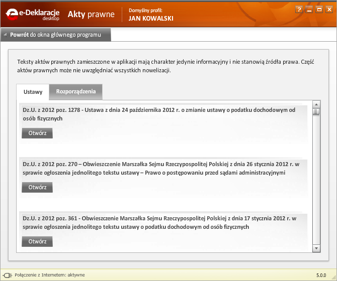 Jak korzystać z programu e-Deklaracje Desktop - rys. 9