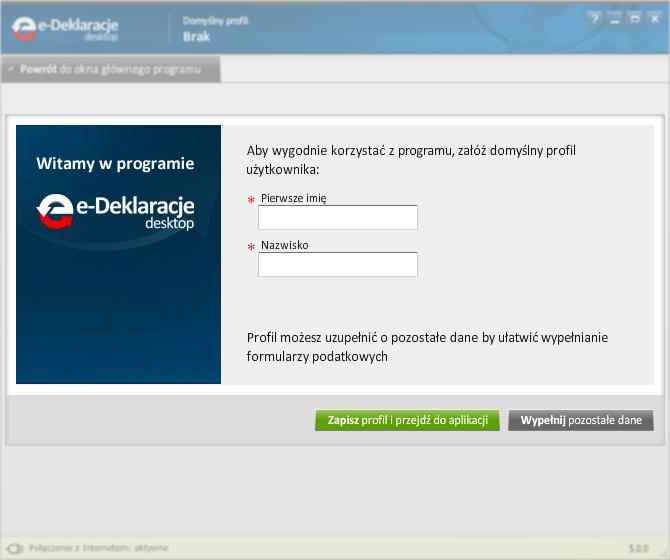 Jak korzystać z programu e-Deklaracje Desktop - rys. 1