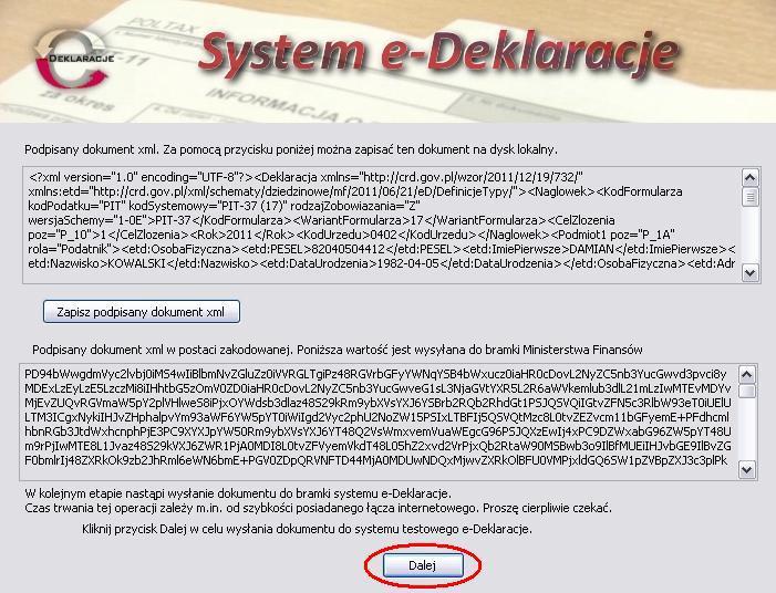 Jak wysłać PIT przez internet - krok po kroku - rys. 9