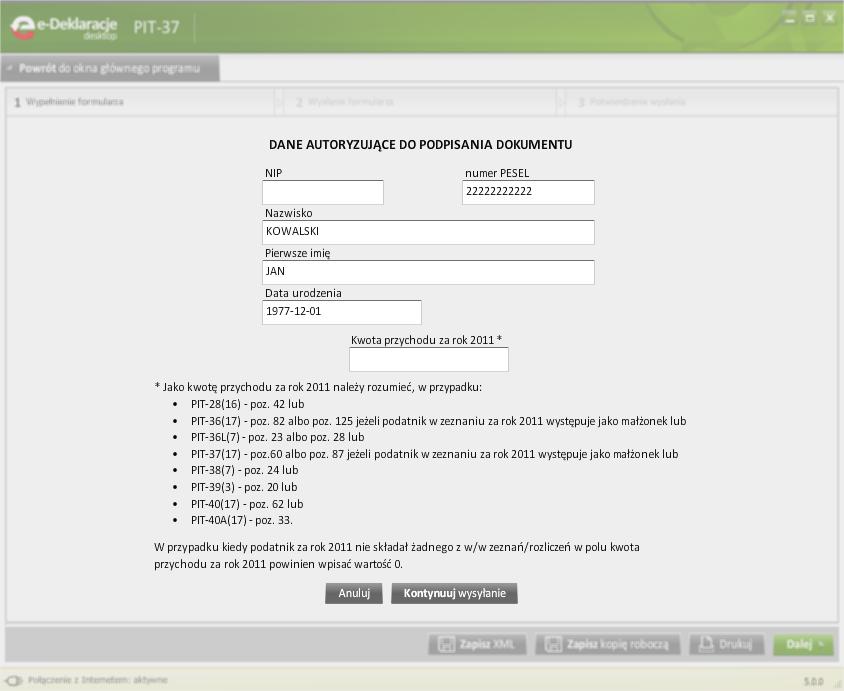 Jak korzystać z programu e-Deklaracje Desktop - rys. 6