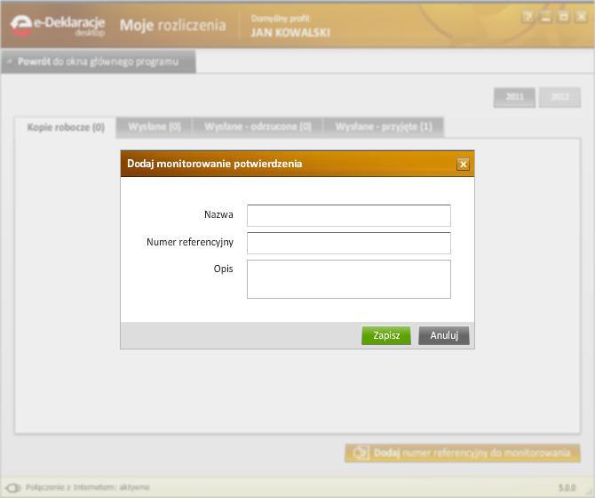 Jak korzystać z programu e-Deklaracje Desktop - rys. 8