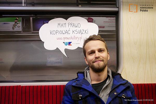 Marcin Cisło (DJ Kwazar) w kampanii Prawo Kultury, fot. Marek Stępniowski, CC BY-SA 3.0