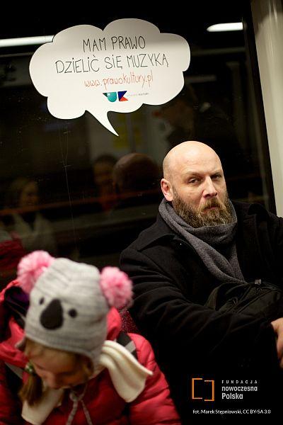 Piotr VaGla Waglowski w kampanii Prawo Kultury, fot. Marek Stępniowski, CC BY-SA 3.0