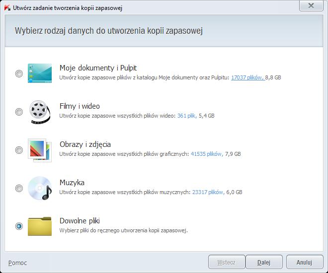 Kaspersky PURE 3.0 - tworzenie kopii zapasowej