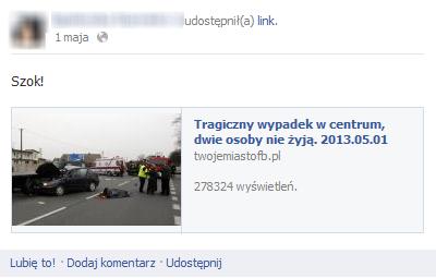 Scam na Facebooku - przykład 2 (screen by DI24.pl)