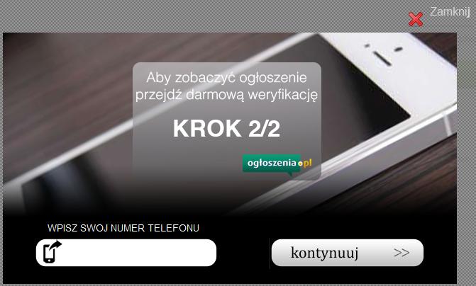 Zachęta do podania numeru telefonu