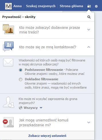 Ustawienia prywatności na Facebooku - rys. 5