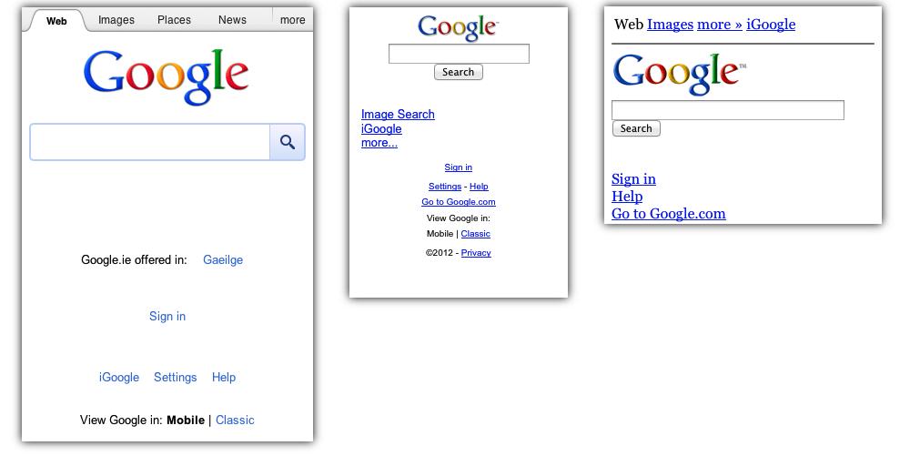 Identyczne na zewnątrz, różne w środku w wykonaniu Google