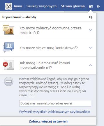 Ustawienia prywatności na Facebooku - rys. 6