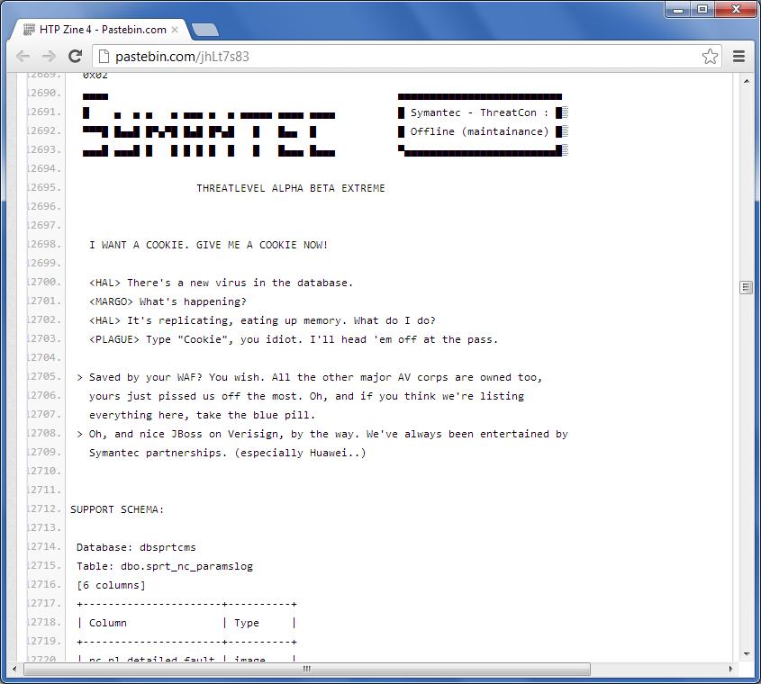 Informacja o włamaniu na serwery Symanteca