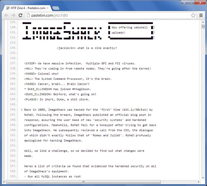 Informacja o włamaniu na serwery ImageShack