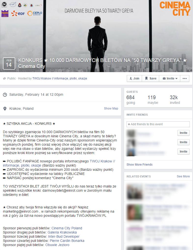 Kolejny oszukańczy konkurs na Facebooku