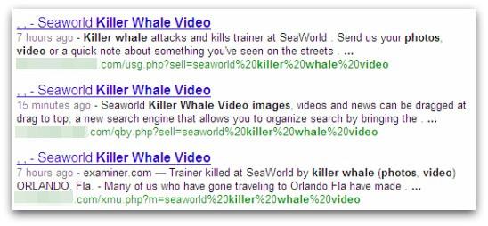 Fałszywe wyniki wyszukiwania