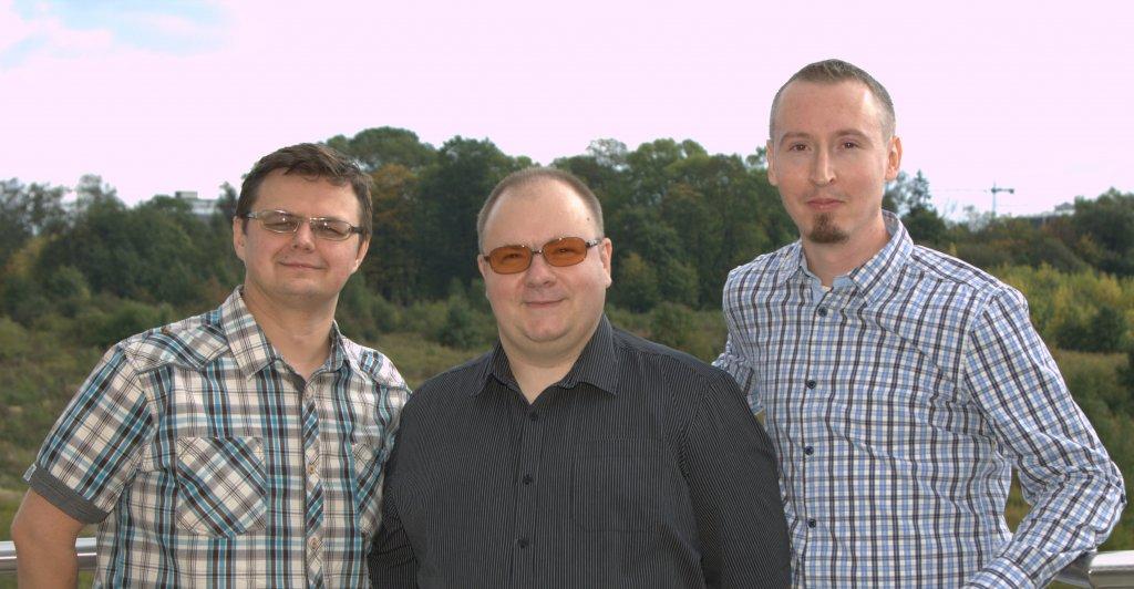 Zespół Dobrego słownika, od lewej: Sebastian Żurowski, Artur Czesak, Łukasz Szałkiewicz