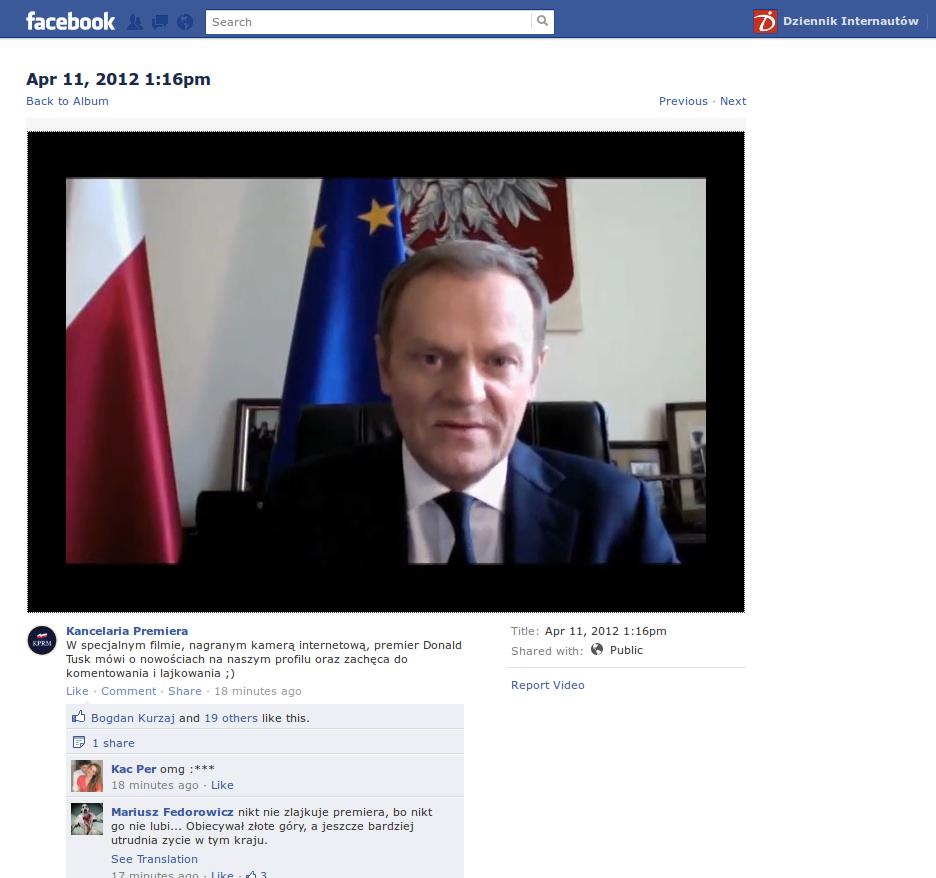 Tusk na Facebooku