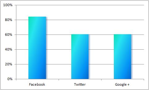 Procentowy udział sklepów internetowych współpracujących z idealo, obecnych na portalach społecznościowych