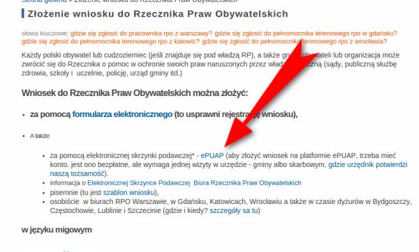 Strona RPO