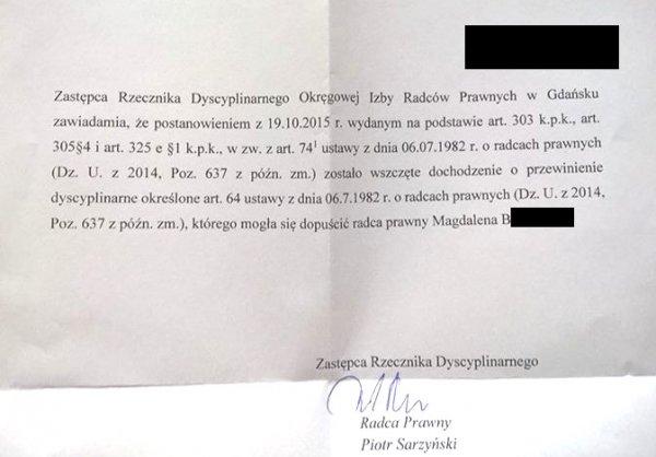 Pismo z OIRP