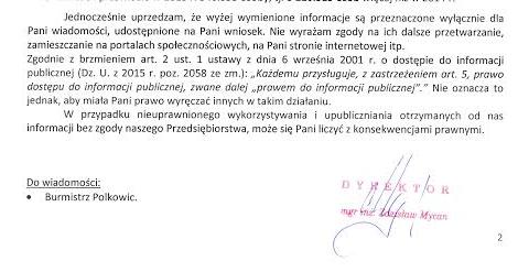 Pismo Polkowice