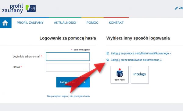 Profil Zaufany - bank