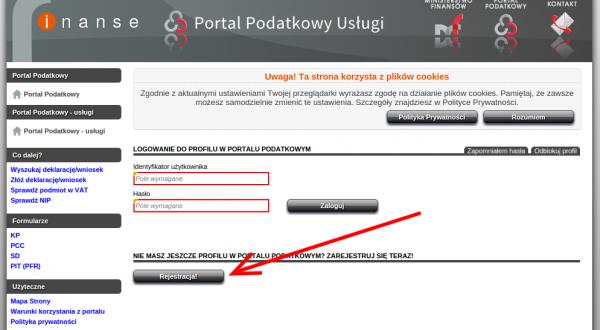 Rejestracja - Portal Podatkowy