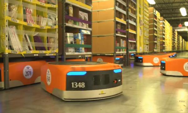 Kiva Systems - roboty
