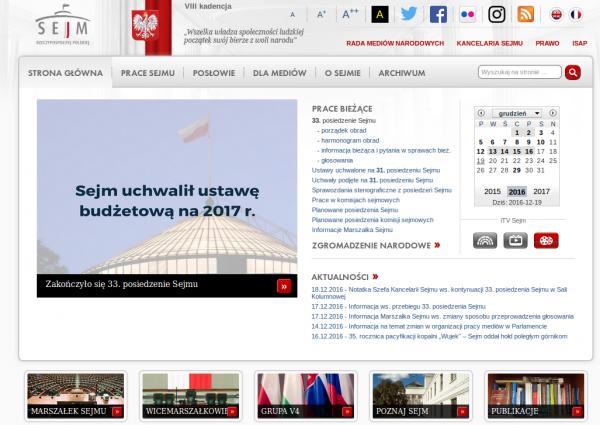 Sejm - strona główna