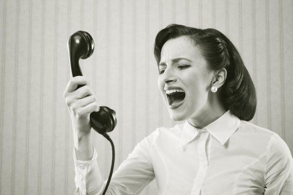 Zła na telefon