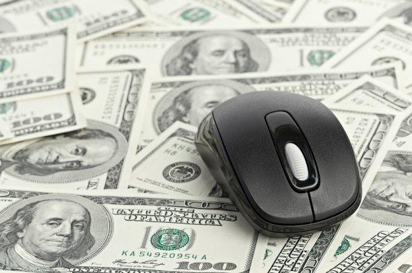 Mysz na pieniądzach