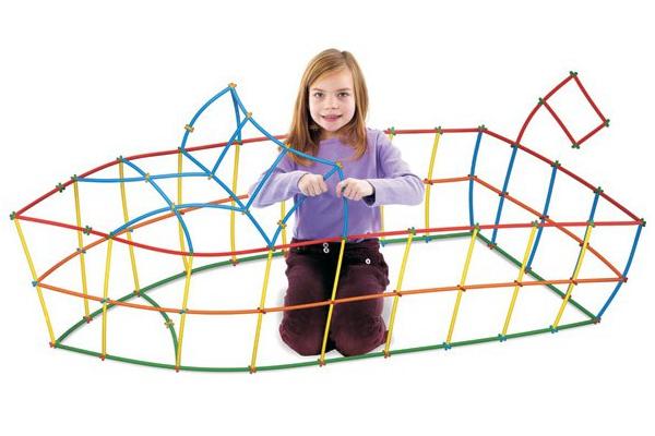 Prezent dla czterolatki. Słomki konstrukcyjne