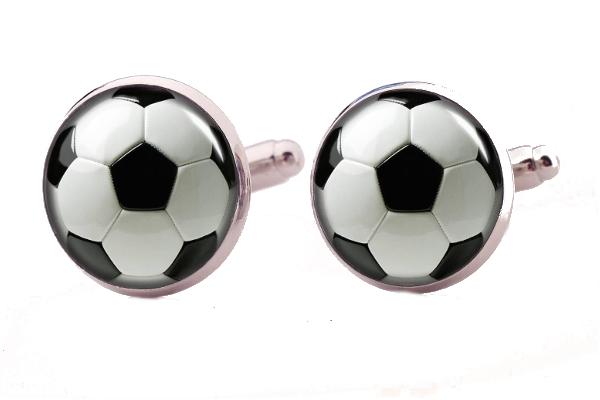Piłkarskie spinki do mankietów. Prezent dla mężczyzny