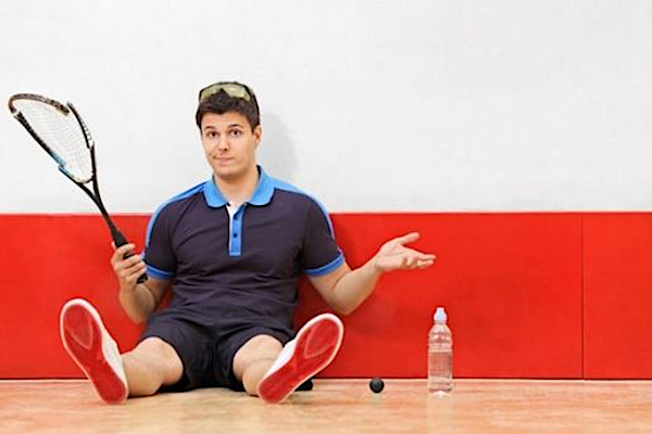 Prezent na 18tkę dla niej. Nauka gry w squasha