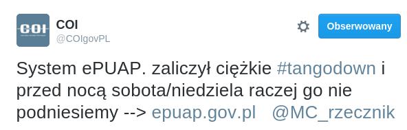 COI - tweet