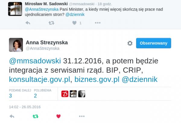 Anna Streżyńska - twitter