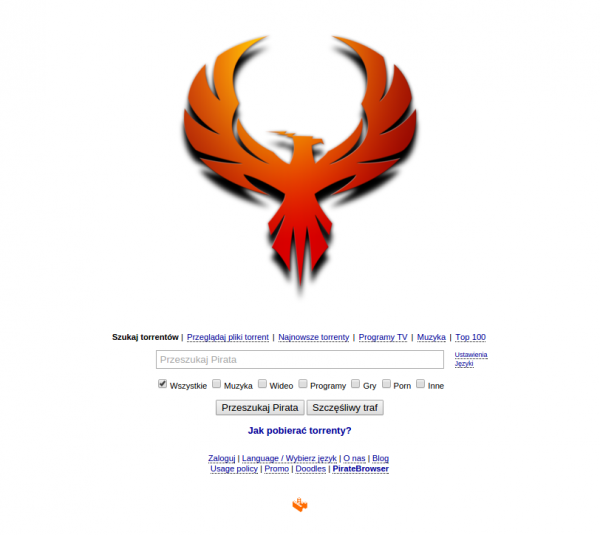 The Pirate Bay z feniksem