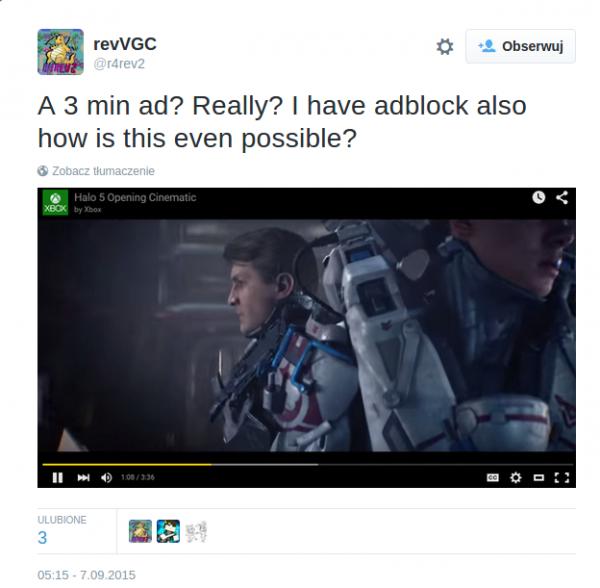 Tweety na temat Adblocka