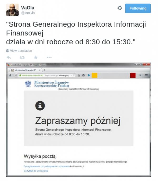 Piotr Waglowski - tweet