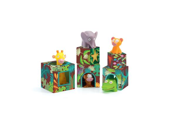 Prezent dla dwulatka. Wieża ze zwierzętami dżungla