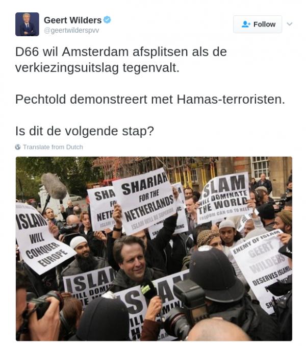 Wilders - tweet