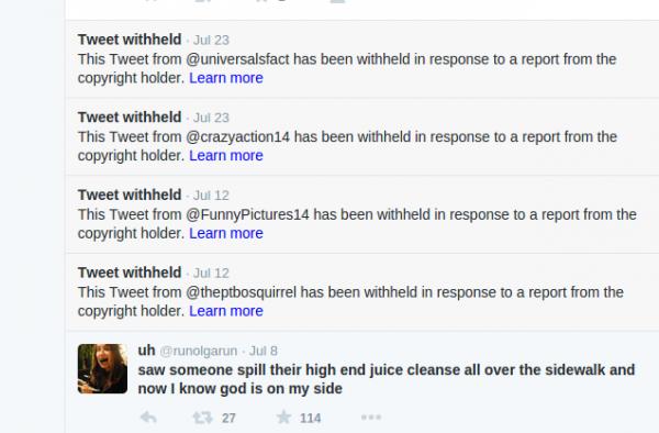 Twitter - wstrzymane wpisy