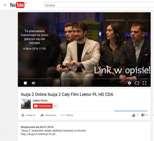 YouTube iluzja