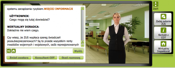Monika, wirtualny doradca ZUS